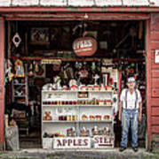 Apples. The Natural Temptation - Farmer And Old Farm Signs Art Print