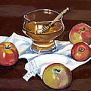 Apples With Honey Art Print