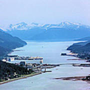 Approaching Juneau Art Print