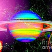 Approaching Saturn From The East Art Print