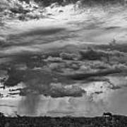 Approaching Storm Black And White Print by Douglas Barnard