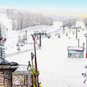 Apres-ski At Hidden Valley Art Print by Albert Puskaric