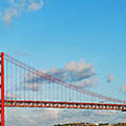 April 25th Bridge In Lisbon Art Print