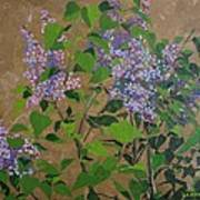 April Lilacs Art Print