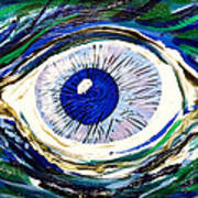 Aqua Eye Art Print