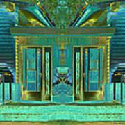 Aqua House 2 Art Print