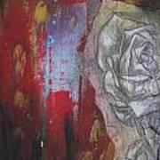 Aqua Red Rose No.3 Art Print