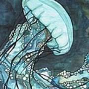 Aqua Sea Nettle Art Print