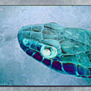 Aqua Serpent Art Print
