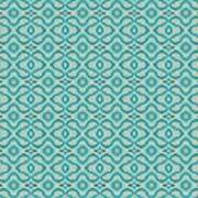 Aqua X Arrangement Art Print