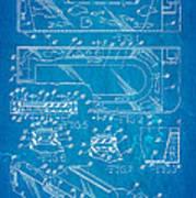 Aquarium Bath Patent Art 1982 Blueprint Art Print