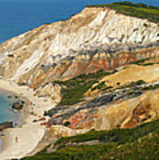 Aquinnah Clay Cliffs Marthas Vineyard Art Print