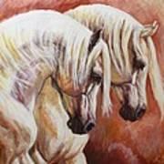 Arab Horses Art Print by Silvana Gabudean Dobre