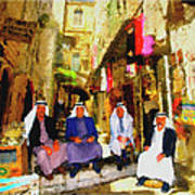 Arab Merchants Of Jerusleum Art Print