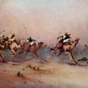 Arab Riders Spur Their Camels Art Print