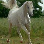 Arabian Horse Abstract Art Print