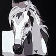 Arabian Horse With Hidden Picture Art Print