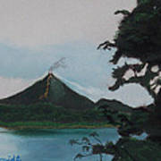 Aranal Volcano Costa Rica Art Print