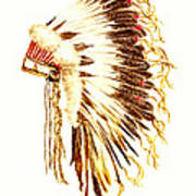 Arapaho War Bonnet Art Print