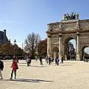 Arc De Triomphe Du Carrousel In Paris France  Art Print