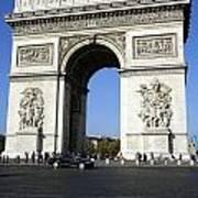 Arc De Triomphe In Paris France Art Print