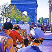 Arc De Triomphe Painter Art Print