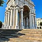 arc of triumph in Piazza Della Vittoria - Genova Art Print