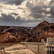 Arch Bridge And Hoover Dam Art Print by Robert Bales