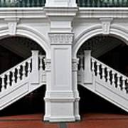 Arch Staircase Balustrade And Columns Art Print