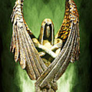Archangel Azrael Print by Bill Tiepelman