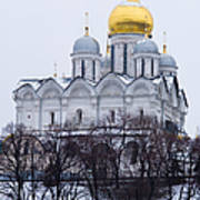 Archangel Cathedral Of Moscow Kremlin - Featured 3 Art Print