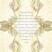 Archangel Michael Remove Fear  Art Print
