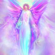 Archangel Raphael Print by Glenyss Bourne