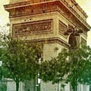 Arche De Triomphe Mood Art Print