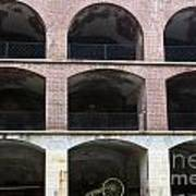 Arched Brick Portals Fort Point San Francisco Art Print