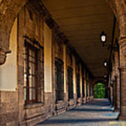 Arched Corridor Art Print