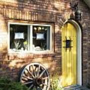 Arched Yellow Door Art Print