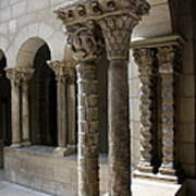 Arches And Columns - Cloister Nyc Art Print