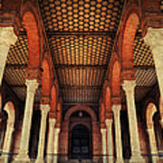 Arches And Columns Of Plaza De Espana 1. Seville Art Print