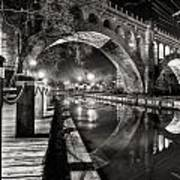 Arches At Night. Art Print