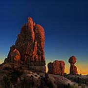Arches After Sunset Art Print