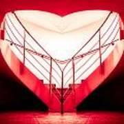 architecture's valentine - redI Art Print