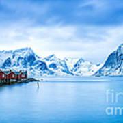 Arctic Dawn Lofoten Islands Art Print