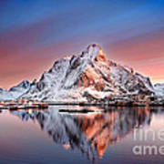 Arctic Dawn Over Reine Village Art Print