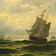 Arctic Whalers Homeward Bound Art Print