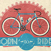 Are You Born To Ride Your Bike? Art Print by Andy Scullion