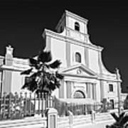 Arecibo Church And Plaza B W 2 Art Print