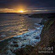 Ares Estuary Mouth Galicia Spain Art Print