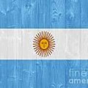 Argentina Flag Art Print