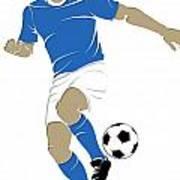 Argentina Soccer Player1 Art Print